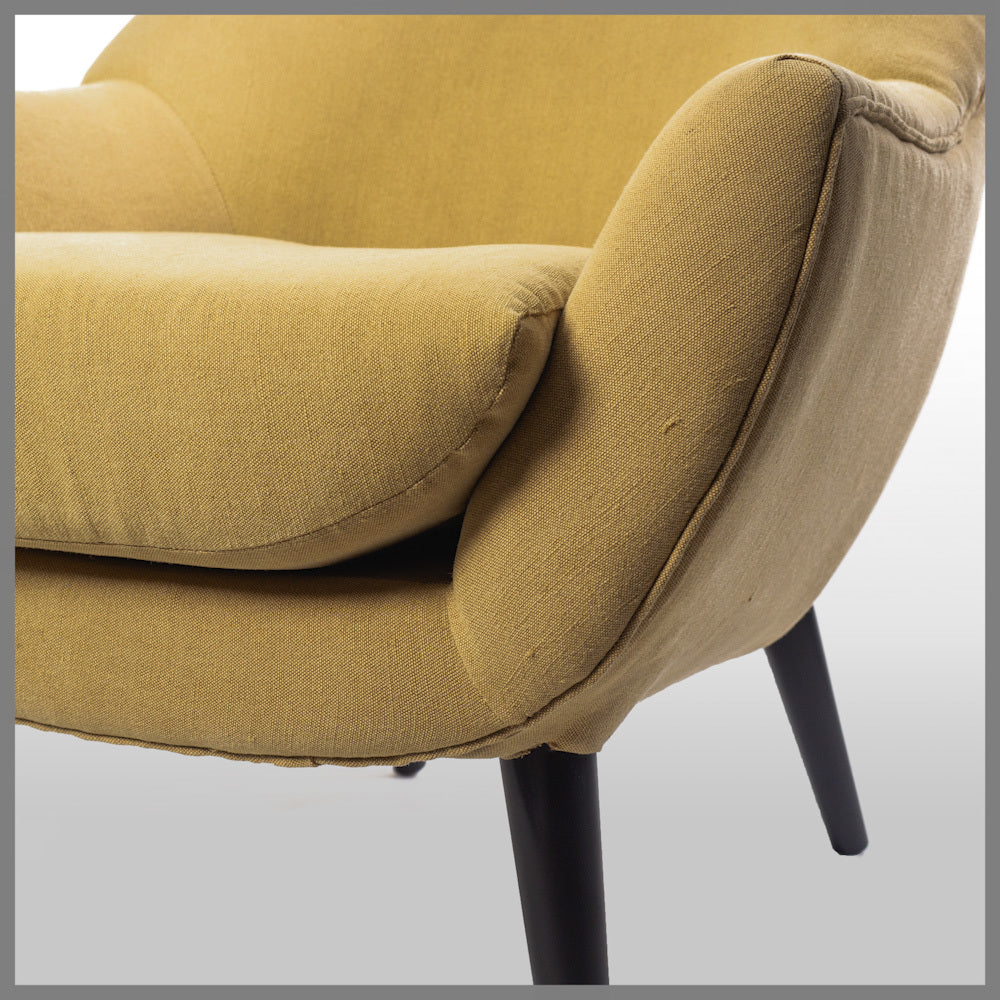 Logan Club Chair Pale Mustard