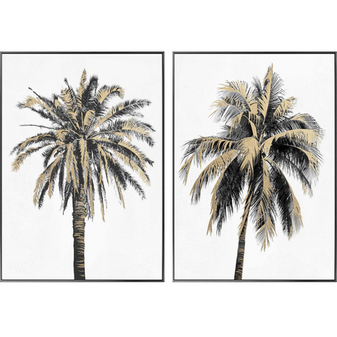 Port Douglas Set/2 Framed Canvases