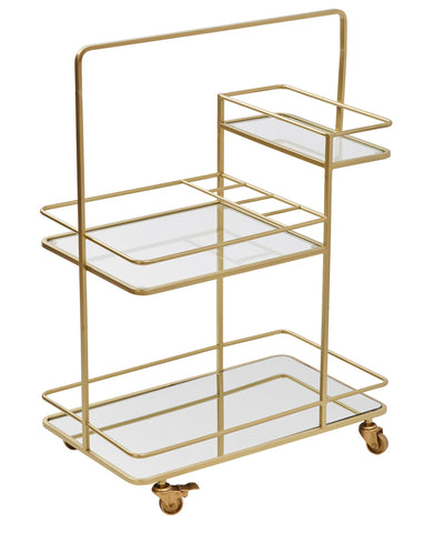 Bar Cart Copper Leaf