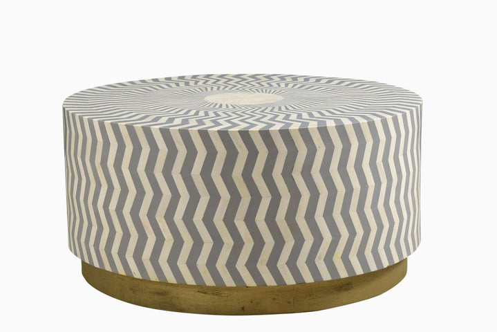 Ziggy Bone Inlay Coffee Table Grey