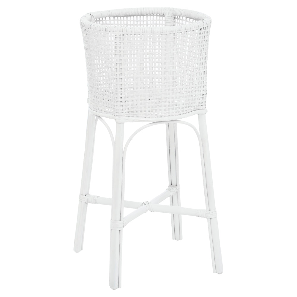 Cocos Rattan Plant Stand White