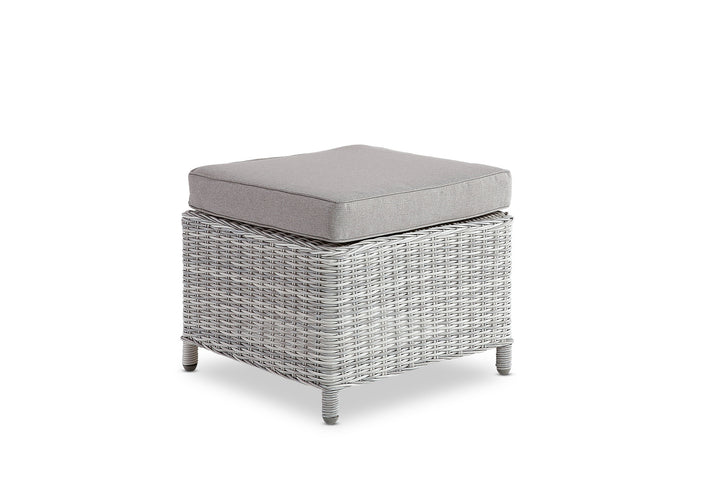 Aegean Outdoor Footstool Weathered Grey