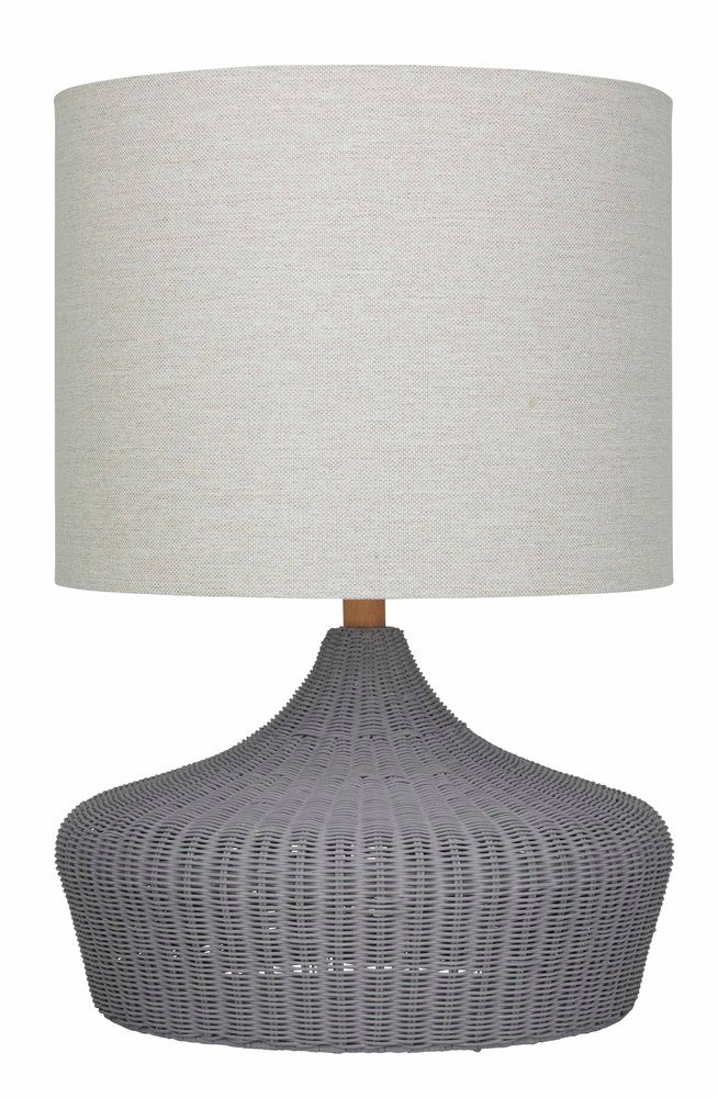 Hawthorne Table Lamp Grey Pair