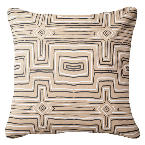 Aboriginal Dot Natural Outdoor Cushion