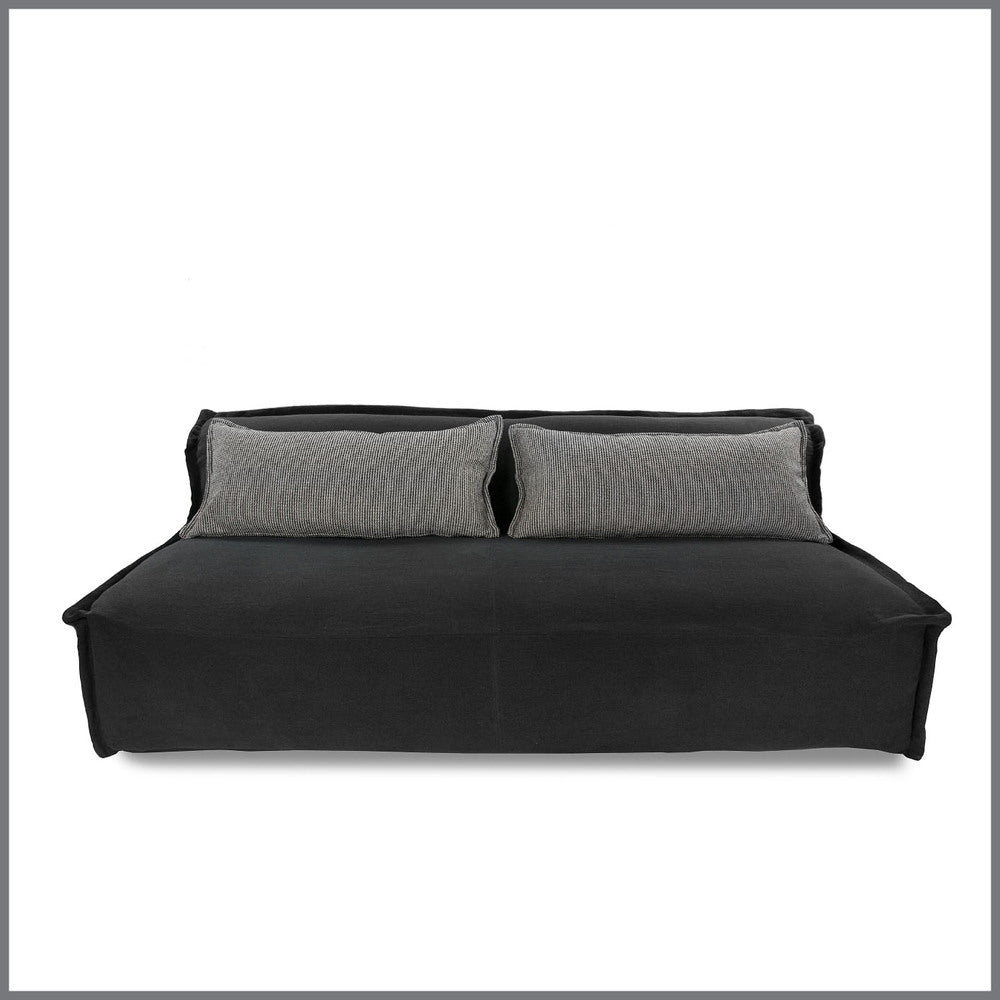 Leroy Charcoal Sofa With Black & White Cushions