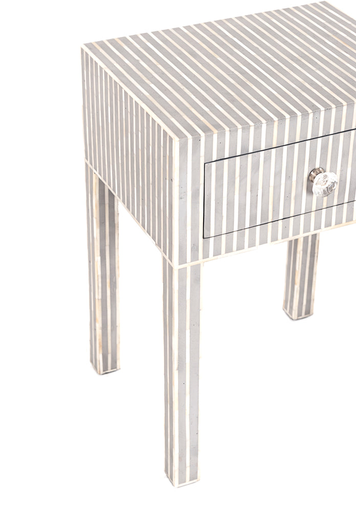 Lilia Bone Inlay Bedside