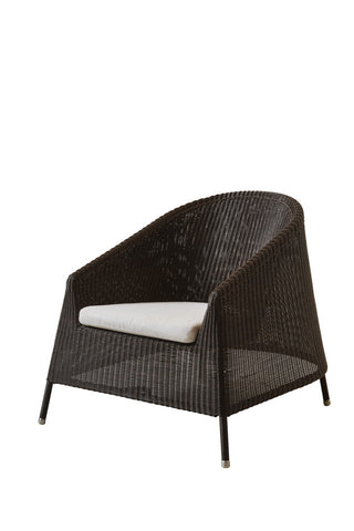 Kingston Outdoor Lounge Chair Mocca with Cushion Options