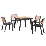 Bocage 5 Piece Dining Setting Charcoal