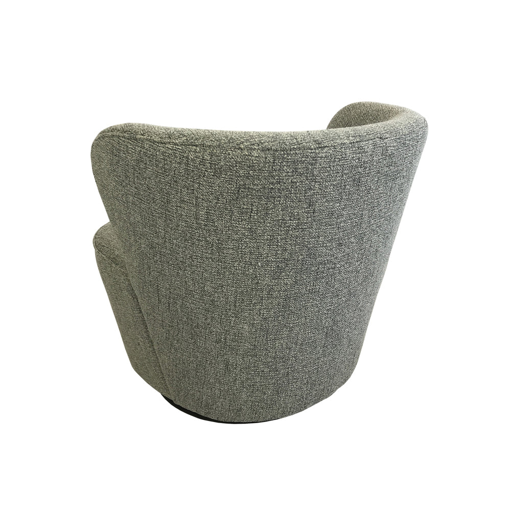 Maxwell Swivel Chair Textured Grey
