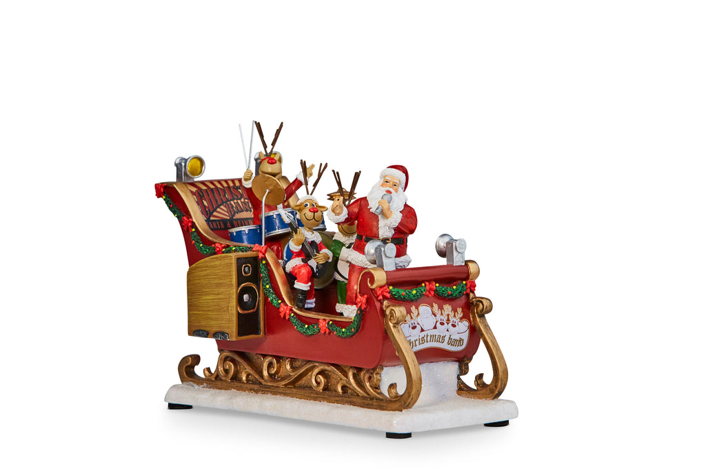 Santa with Sleigh Band Musical