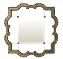 Square Mirror with Curved Edges