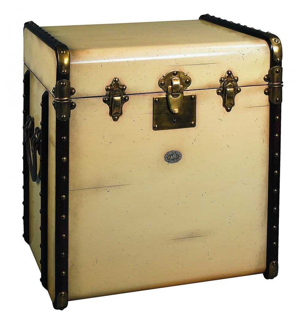 Stateroom End Table/Trunk Ivory