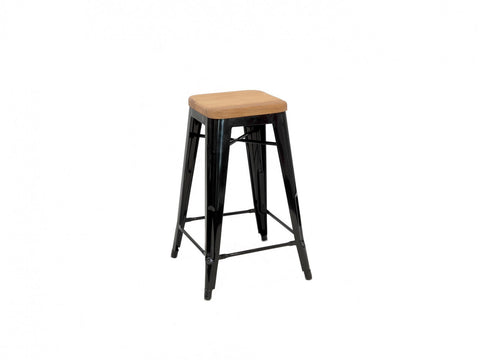 Replica Xavier Pauchard Tolix Stool Wood Seat 75cm