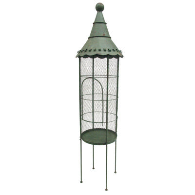 Vintage Green Tall Bird Cage