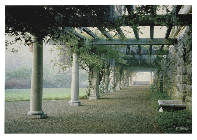 Wisteria Pergola Tapestry with Rod