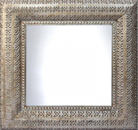 Interlace Pewter Mirror