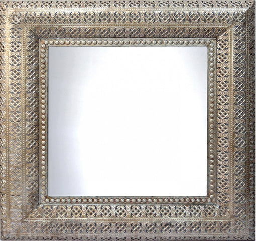 Interlace Mirror Champagne Square