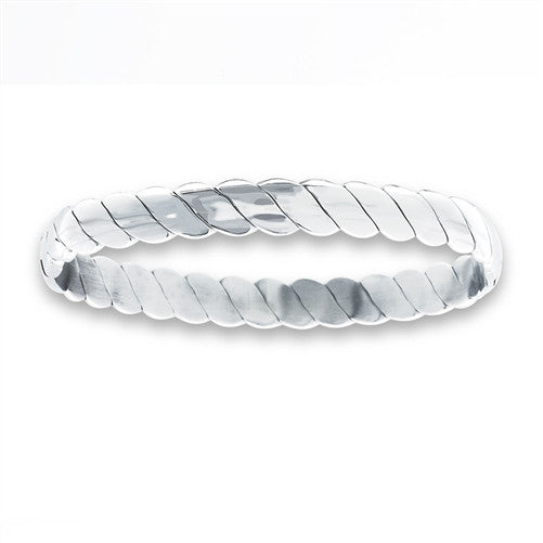Woman's Stainless Oval Bangle Steel Bracelet