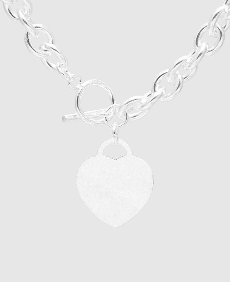 Stainless Steel Chain With Heart Pendant Necklace