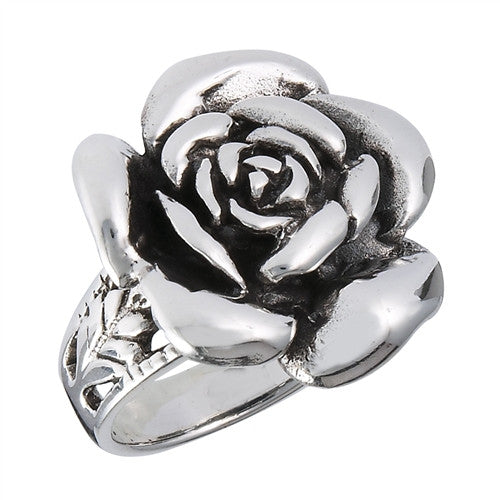 Sterling Silver Rose Ring