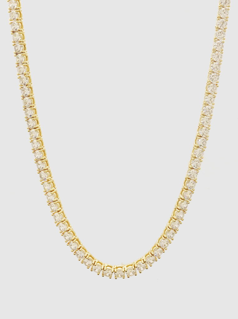 Stainless Steel Necklace with CZ-GD