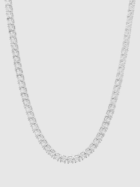 Stainless Steel Necklace with CZ-SV