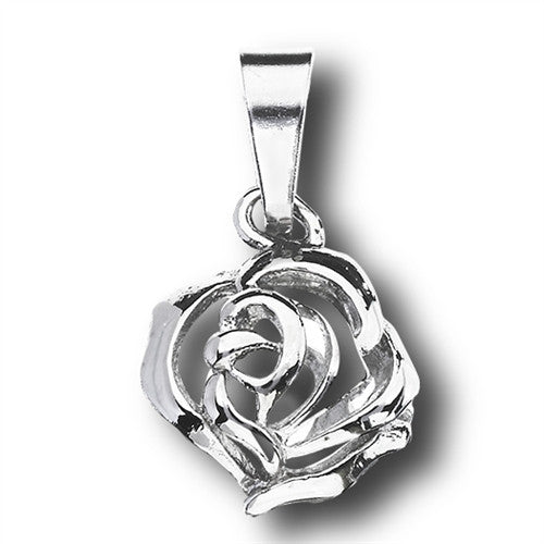 Stainless Steel Rose Pendant