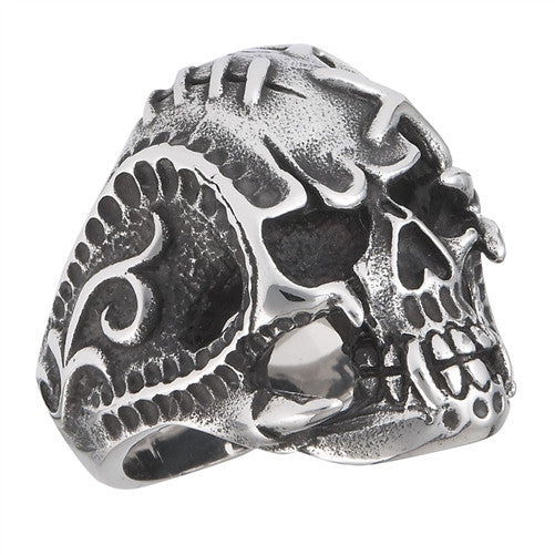 Stainless Steel Surgically Repaired Skull Ring