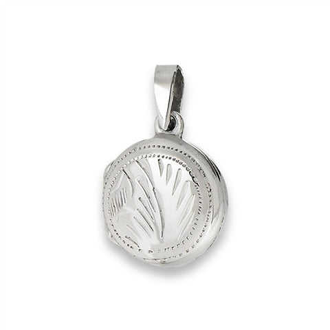 Sterling Silver Small Round Etched Locket