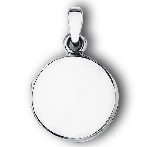 Sterling Silver High Polish Round Locket