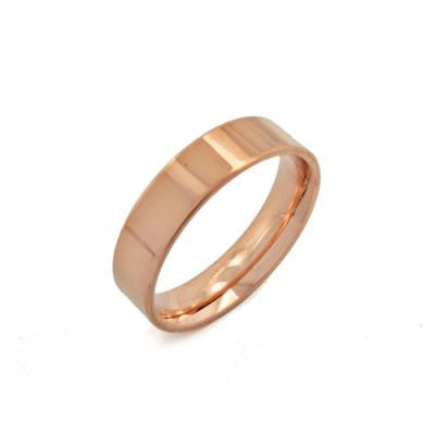 Stainless Steel Rose Gold Gold IP ring