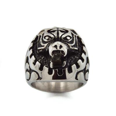 Stainless Steel Tiger Face Ring