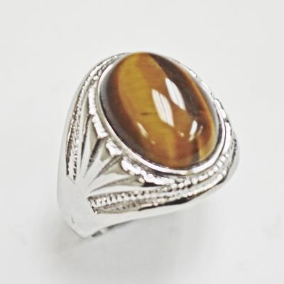 Stainless Steel Tiger Eye Ring
