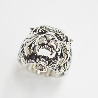 Stainless Steel Tiger Face Head Ring