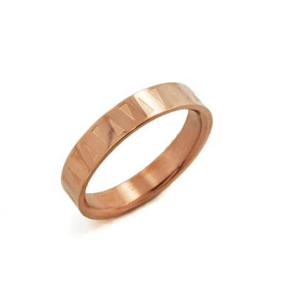 Stainless Steel Rose Gold IP Ring