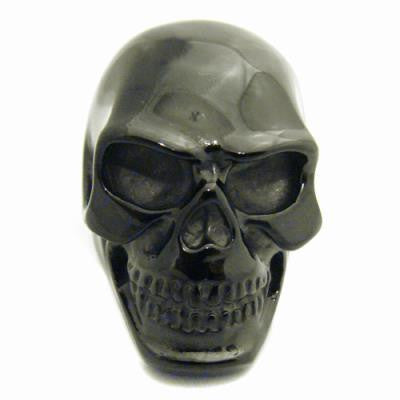 Stainless Steel Black Skull Head Ring