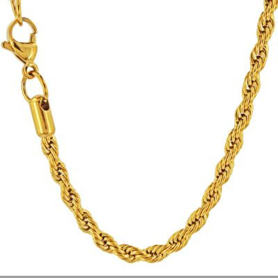 Stainless Steel Gold IP High Polish Necklace