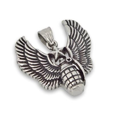 Stainless Steel Winged Hand Grenade