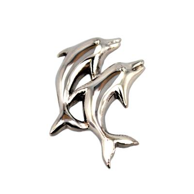 Stainless Steel High Polish Dolphin Pendant Necklace