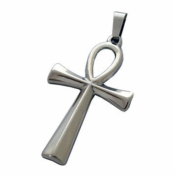 Stainless Steel Ankh Pendant Necklace