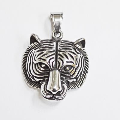 Stainless Steel Tiger Head Pendant
