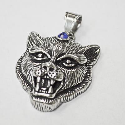 Stainless Steel Panther Head Pendant