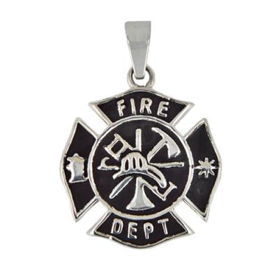 Stainless Steel Fire Fighter Pendant
