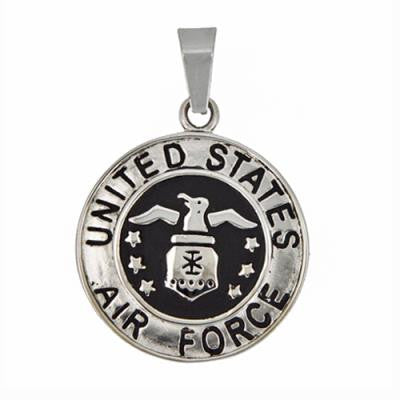 Stainless Steel United States Air Force Pendant