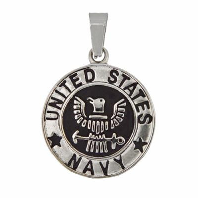 Stainless Steel United States Navy Pendant