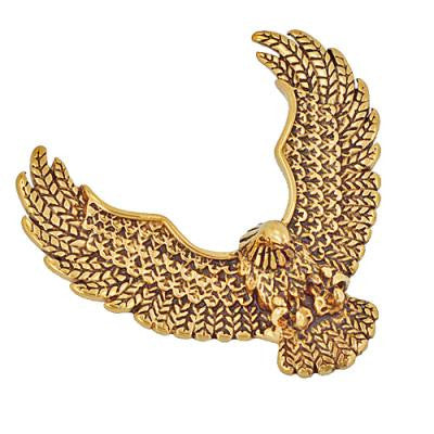 Stainless Steel High Polish Gold Eagle Pendant