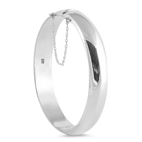 Sterling Silver Polished Round Bracelet with Chain