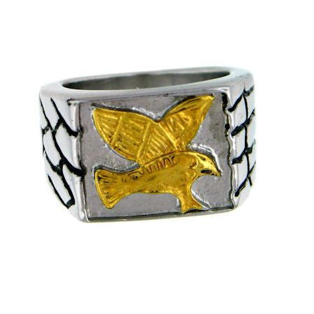Stainless Steel Men's Eagle Ring