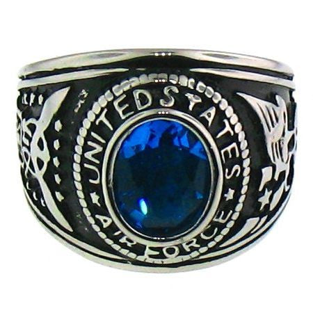 Stainless Steel United States Air Force Ring