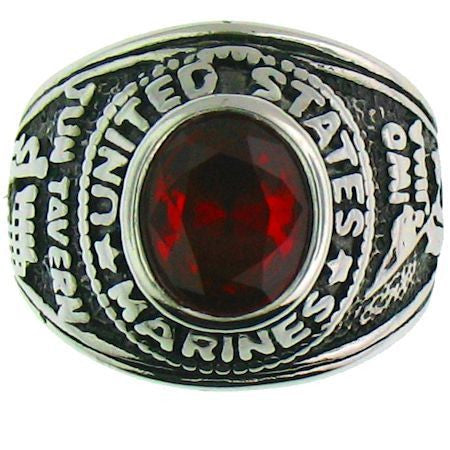 Stainless Steel United States Marines Ring